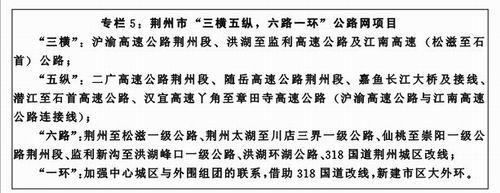 """湖北长江经济带""""十二五""""规划(全文)"""