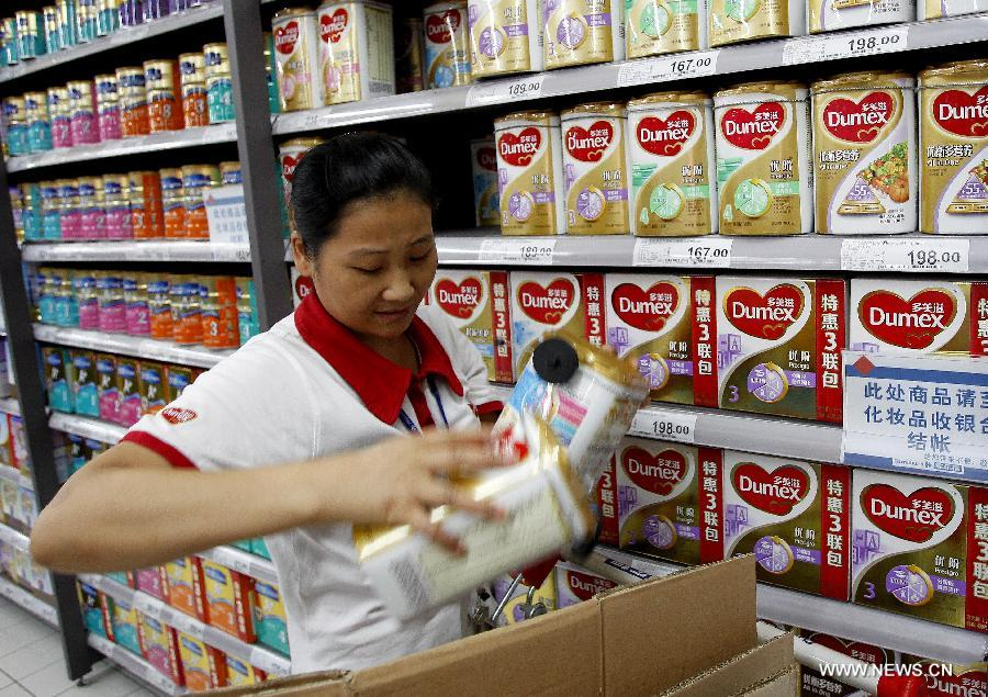 Baby formula of Dumex removed from shelves in Shanghai