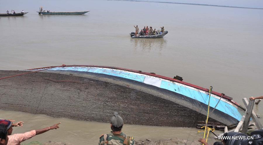 Rescuers continue to look for survivors of doomed ferry in NE India