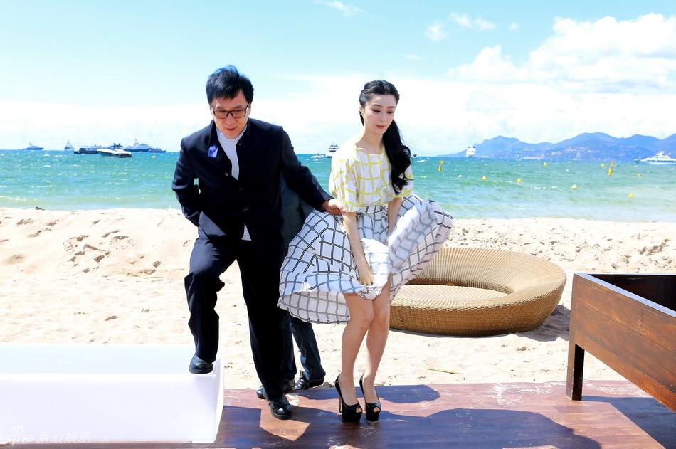 Fan Bingbing attends press conference of Jackie Chan's Skiptrace in Cannes