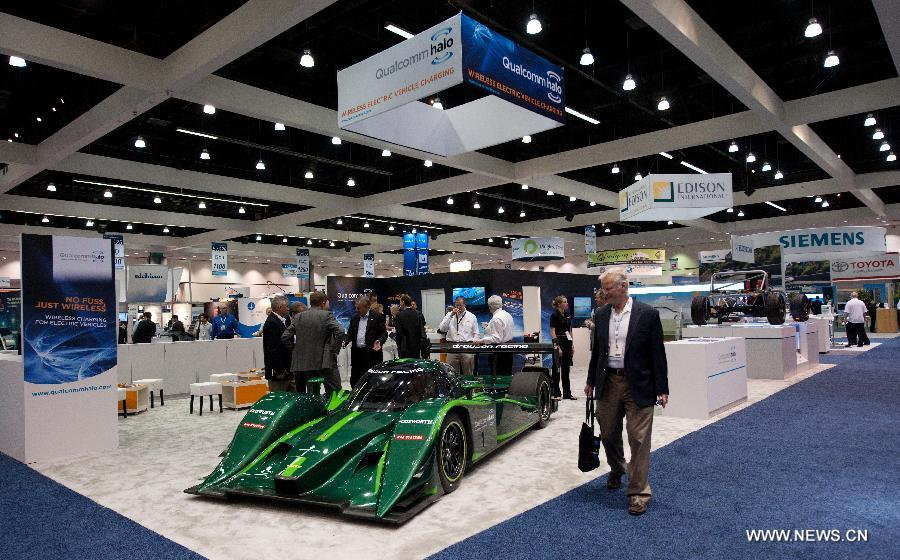 Electric vehicles displayed at EVS26 in LA