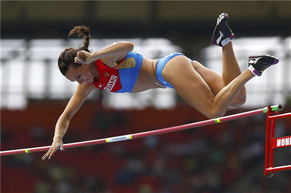 Isinbaeva wins women's pole vault at worlds