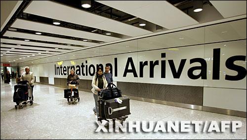 英国伦敦希思罗机场启用新航站楼(组图)