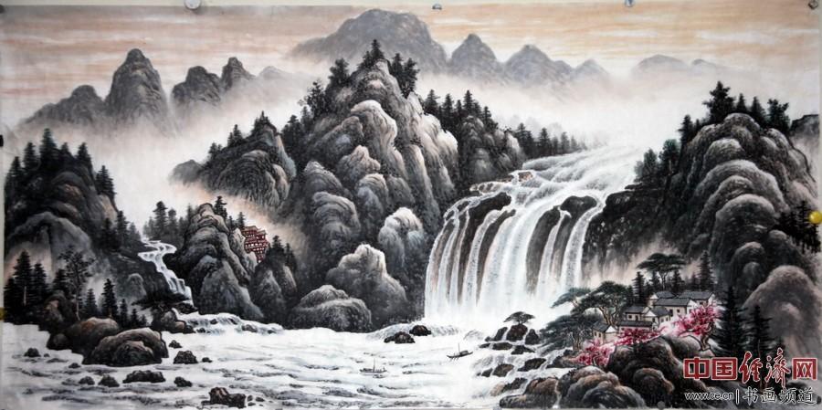 衣洪旗著名山水画家国画作品欣赏(组图)