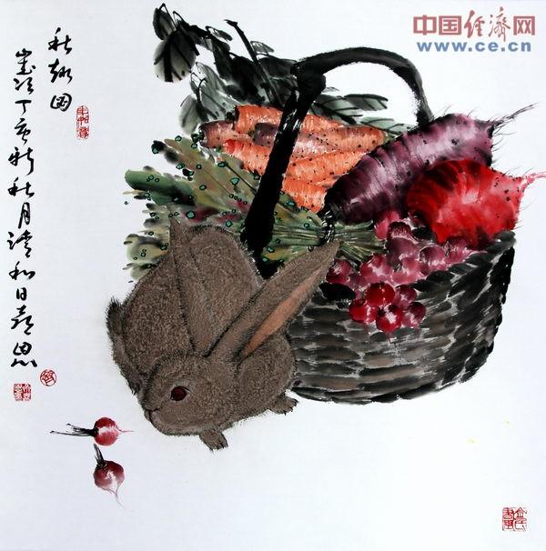 齐喜恩国画作品欣赏之动物素材